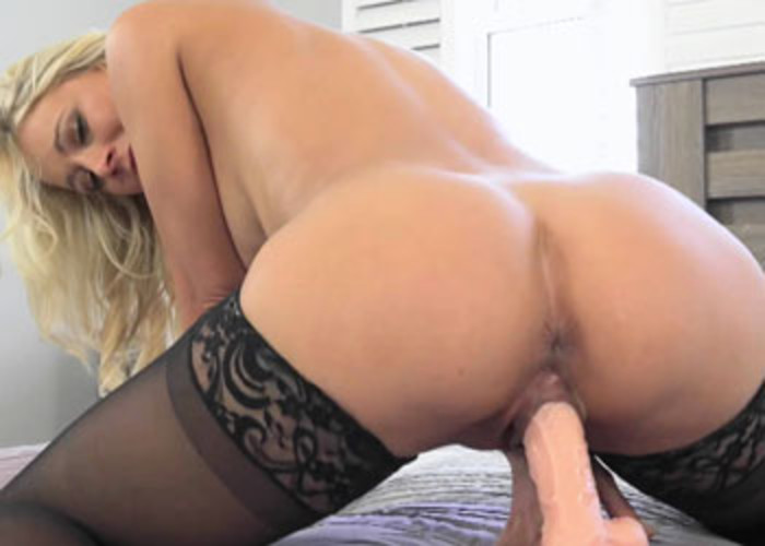 Mature blonde Katie does a huge dong
